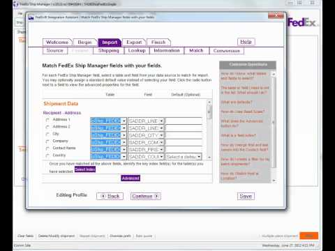 Fedex Ship Manager ODBC Connection Reset - YouTube