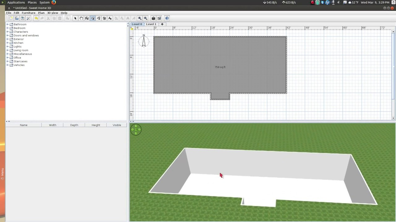 Sweet Home 3d  How to add a basement  YouTube