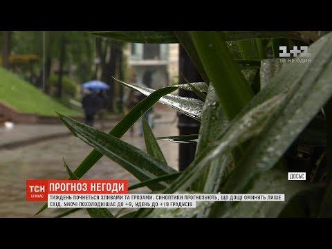 ТСН: Погода на тиждень: синоптики прогнозують дощі майже по всій Україні