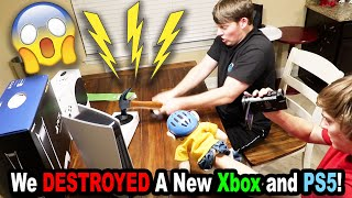 SML DESTROYED A Brand New XBOX and PS5!!! *BTS*