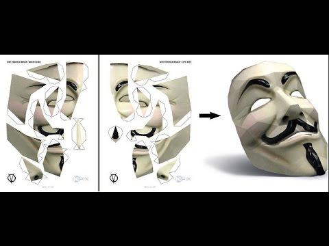 Como Hacer Mascara De Anonymous Impresa Explicado Máscara De Guy Fawkes