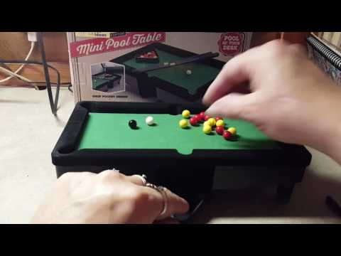 Desktop Miniature Pool Table Set by Perfect Life Ideas