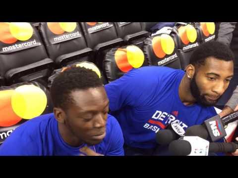 Reggie Jackson, Andre Drummond joke before Pistons' season opener