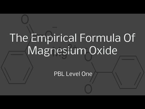 The Empirical Formula Of Magnesium Oxide Level One