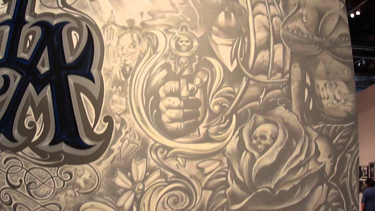 Graffiti wall tattoo - Mister Cartoon La Graffiti Wall At Moca By Shadowink