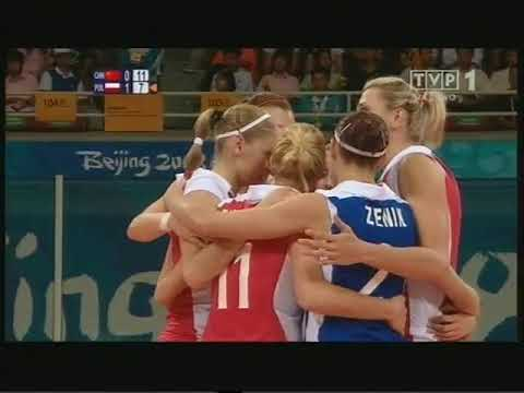 Olympic 2008 volleyball Poland - China Set 2