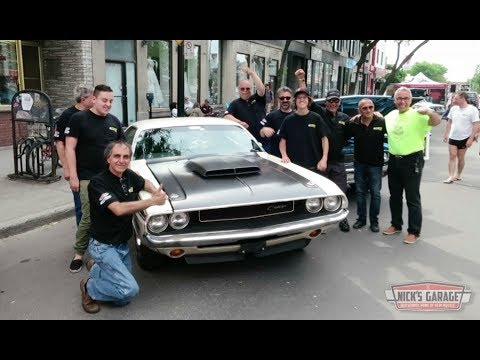 Muscle cars in the streets of montreal for f1 celebration for Garage bourny automobiles laval