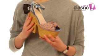 видео летние босоножки на платформе
