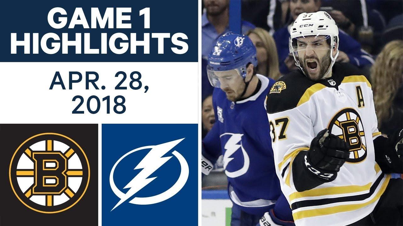 Nhl Highlights Bruins Vs Lightning Game 1 Apr 28 2018 Youtube
