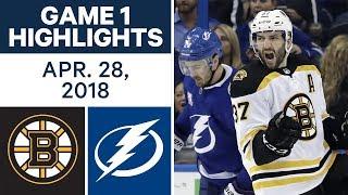 NHL Highlights   Bruins vs. Lightning, Game 1 - Apr. 28, 2018