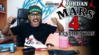 Air Jordan 4 Mars Restoration Tutorial with Vick Almighty