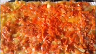 Закусочный торт-салат из вафельных коржей+Вкусный соус.