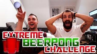 EXTREME BEERPONG CHALLENGE! - Bestrafung = Bart oder Glatze rasieren!