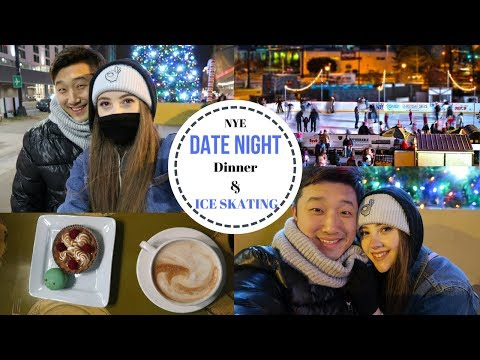 NEW YEARS EVE DATE | WE WENT ICE SKATING!! | KOREAN FRIED CHICKEN | AMWF