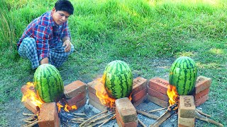 WATERMELON CHICKEN   Cooking Skill   Village Food