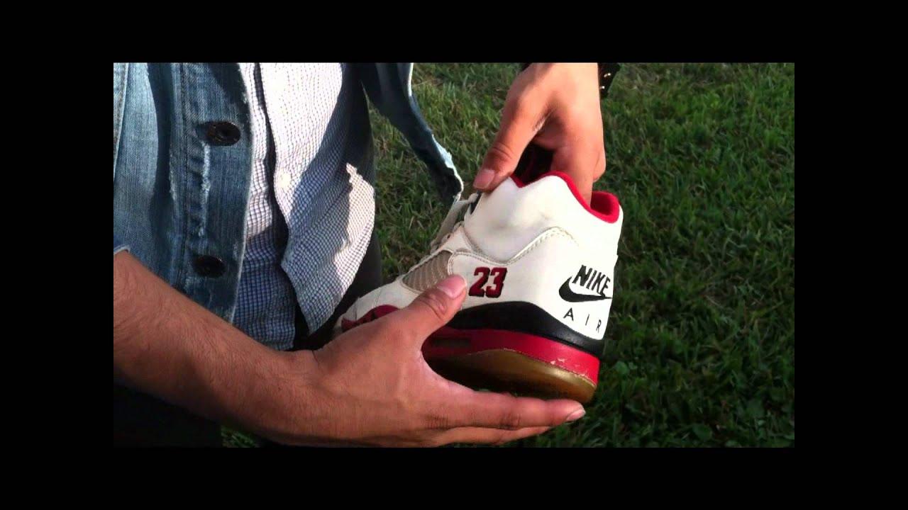 DopeNature  Air Jordan Nike Air Original 1990 Fire Red 5s og - YouTube 53c0403aa