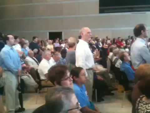 Kathleen Sebelius & Arlen Specter Grilled At Town Hall Meeting