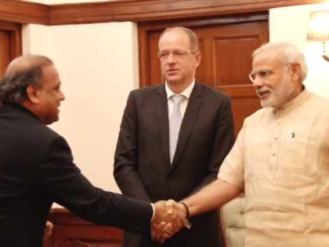 GlaxoSmithKline Global CEO calls on Indian PM Modi