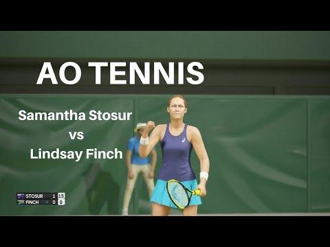 AO Tennis: Samantha Stosur vs Lindsay Finch