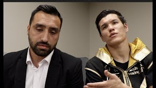 DANIYAR YELEUSSINOV REACTS TO POINTS WIN REFUSES TO EXPLAIN WHY HE IS NOT ON GOLOVKIN 39 S UNDERCARD