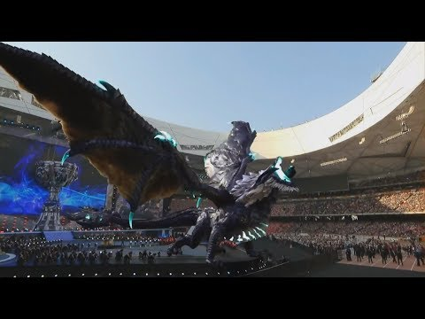 When Elder Dragon Entered Bird's Nest Stadium #Leagueoflegends