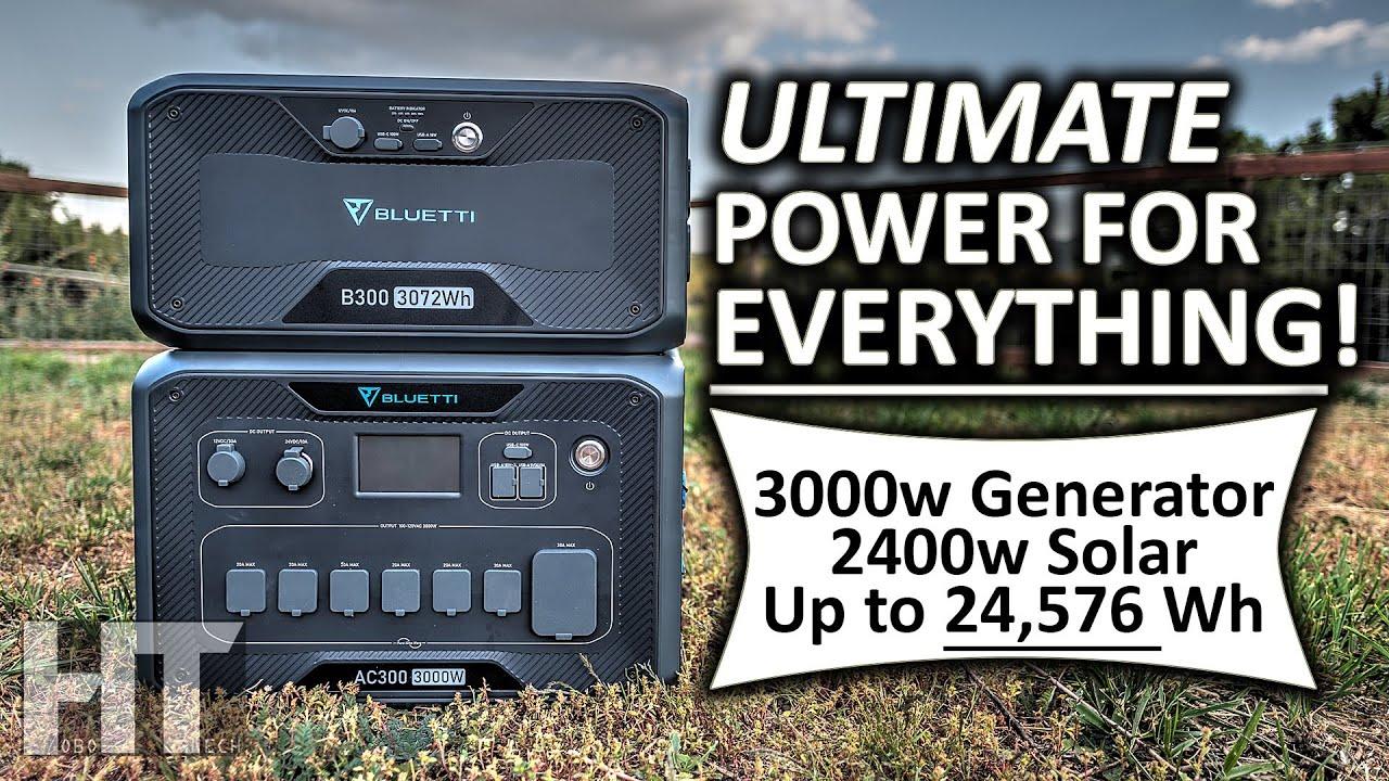 Download BLUETTI AC300 3000w Modular B300 LiFePO4 Battery Solar Generator FULL REVIEW