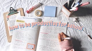 How to Stay Productive + Be Motivated for School | Vanessa Tiiu
