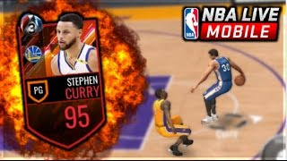 NBA LIVE MOBILE | NEW 95 STEPH CURRY GAMEPLAY! BREAKING ANKLES OMG! [MINI SHOPPING SPREE]