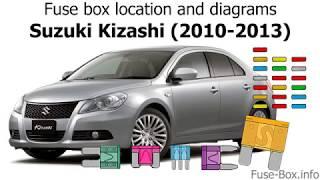 Fuse box location and diagrams: Suzuki Kizashi (2010-2013) - YouTube