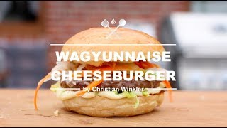 Wagyunnaise Burger - The Best Grilled Wagyu CheeseBurger Ever - COOK WITH ME.AT