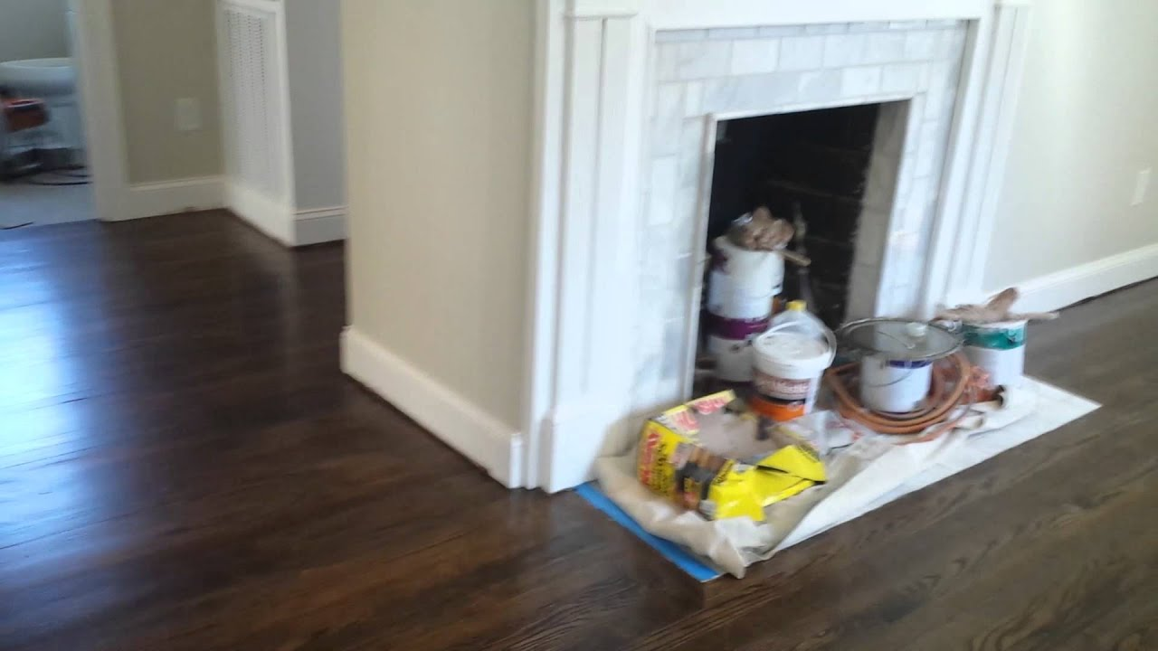 Dark Walnut In Charlotte NC Pt Hardwood Floor Refinishing - Hardwood floors charlotte nc