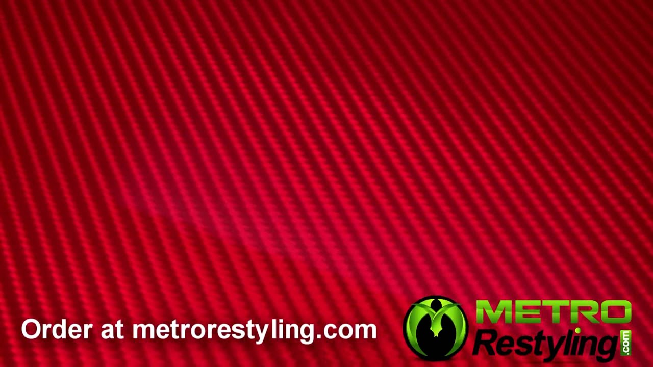Red 3d Carbon Fiber Vinyl Film Metrorestyling Com Youtube