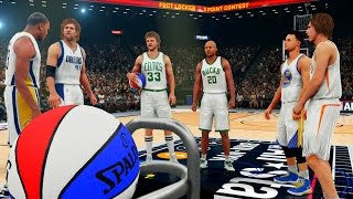 NBA 2K16: The Greatest 3 Point Contest Of All Time! Curry, Nash, Nowitzki, Allen, Miller, Bird! PS4