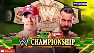 John Cena vs Cm punk WWE championship match Money in the bank