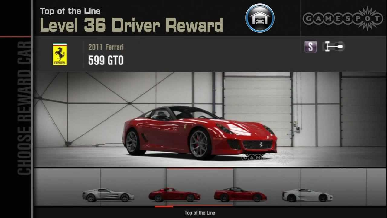 Forza  Driver Level Cars