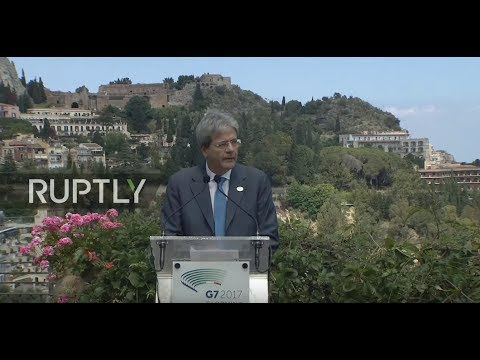 LIVE: G7 summit in Taormina, Sicily: closing press conference by Gentiloni