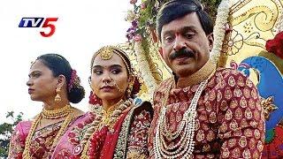 Gali Janardhan Reddy Daughter Wedding : Hampi Temple Replica, 50000 Guests   TV5 News