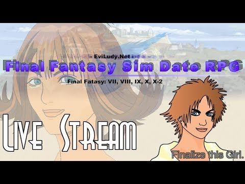 Let's Blindly Stream Final Fantasy Sim Date RPG! - Valentine's Day Special 💜