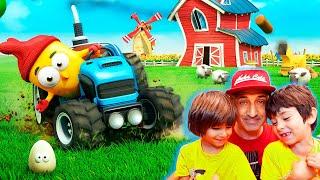 CUIDADO con las VACAS!! Dani y Evan en Chicken Pox - Juegos IOS para niños