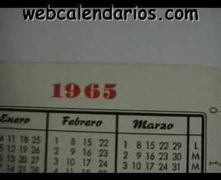 Calendario Del Ano 1965.Calendario Fournier Cerveza Alhambra 1965