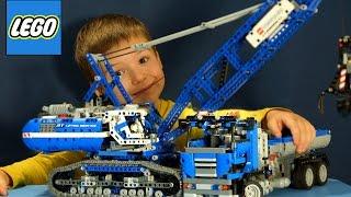 Обзор на Лего Техник 42042 Гусеничный Кран на русском. Строительная Техника для детей