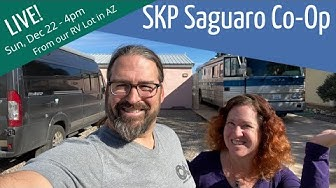 Welcome to our RV Lot at SKP Saguaro Co-Op in Benson, AZ