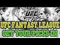 UFC 211 FANTASY LEAGUE! SEASON 5 EVENT #3!