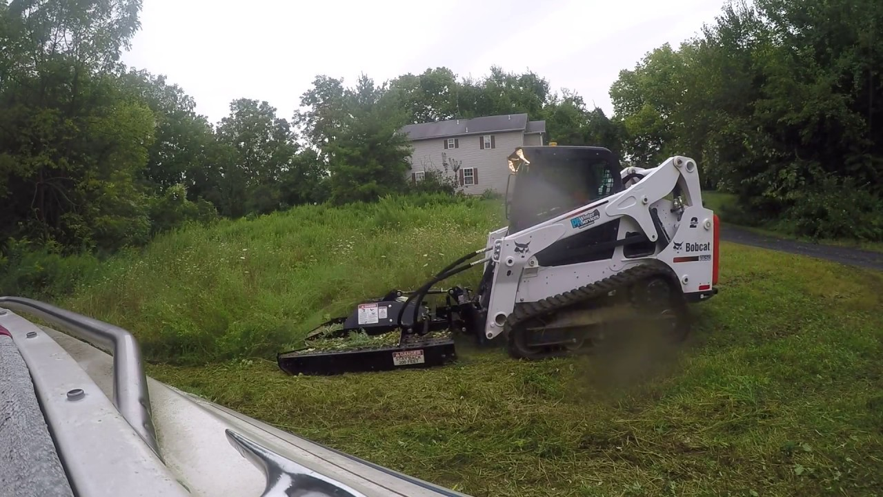 Bobcat T650 Mowing Brush and High weeds
