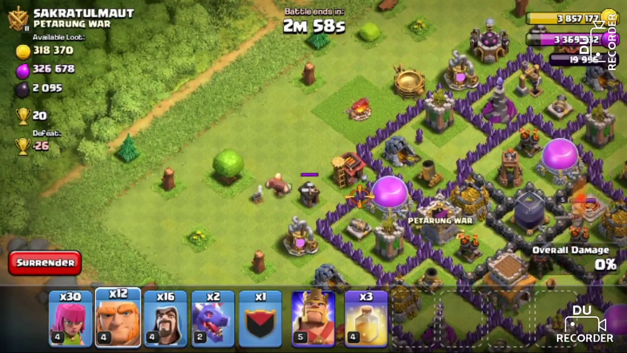 Town Hall 7 Best Army Combination Youtube