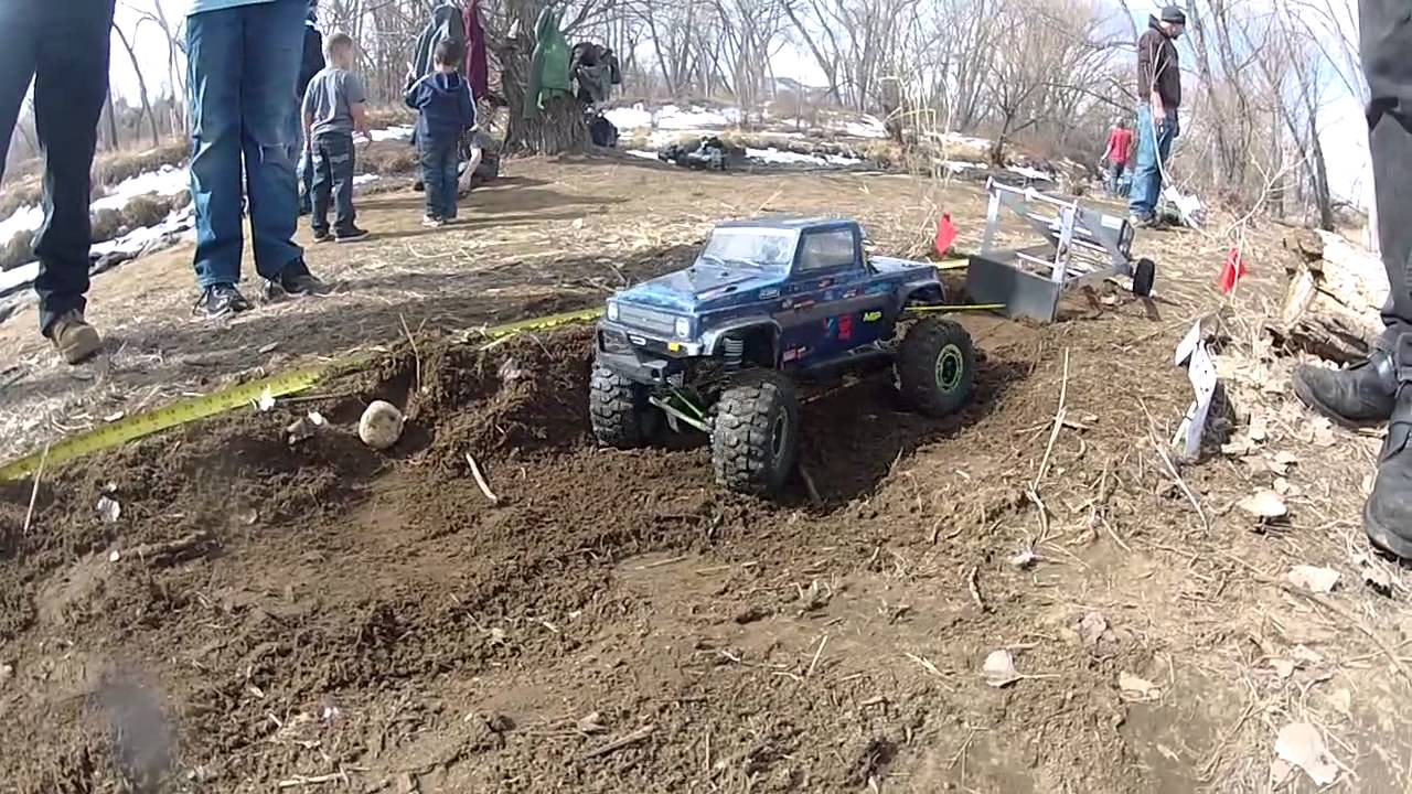 March 2013 tough truck challenge axial monster pit bull tires rc4wd colorado rc youtube