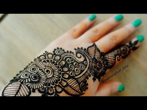Simple mehndi designs bail diwali special simple stylish henna strip bail mehndi designs for hands for eidweddings tutorial thecheapjerseys Gallery