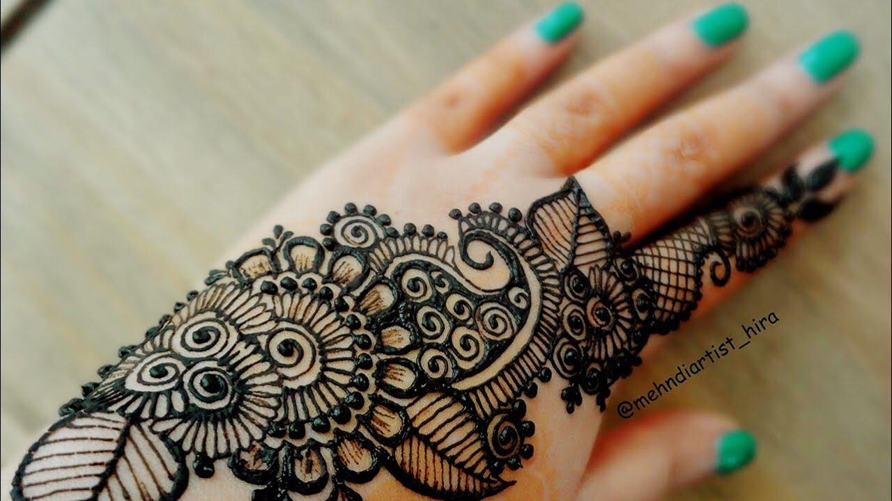 Diwali Henna Designs: Diwali Special Simple Stylish Henna Strip Bail Mehndi