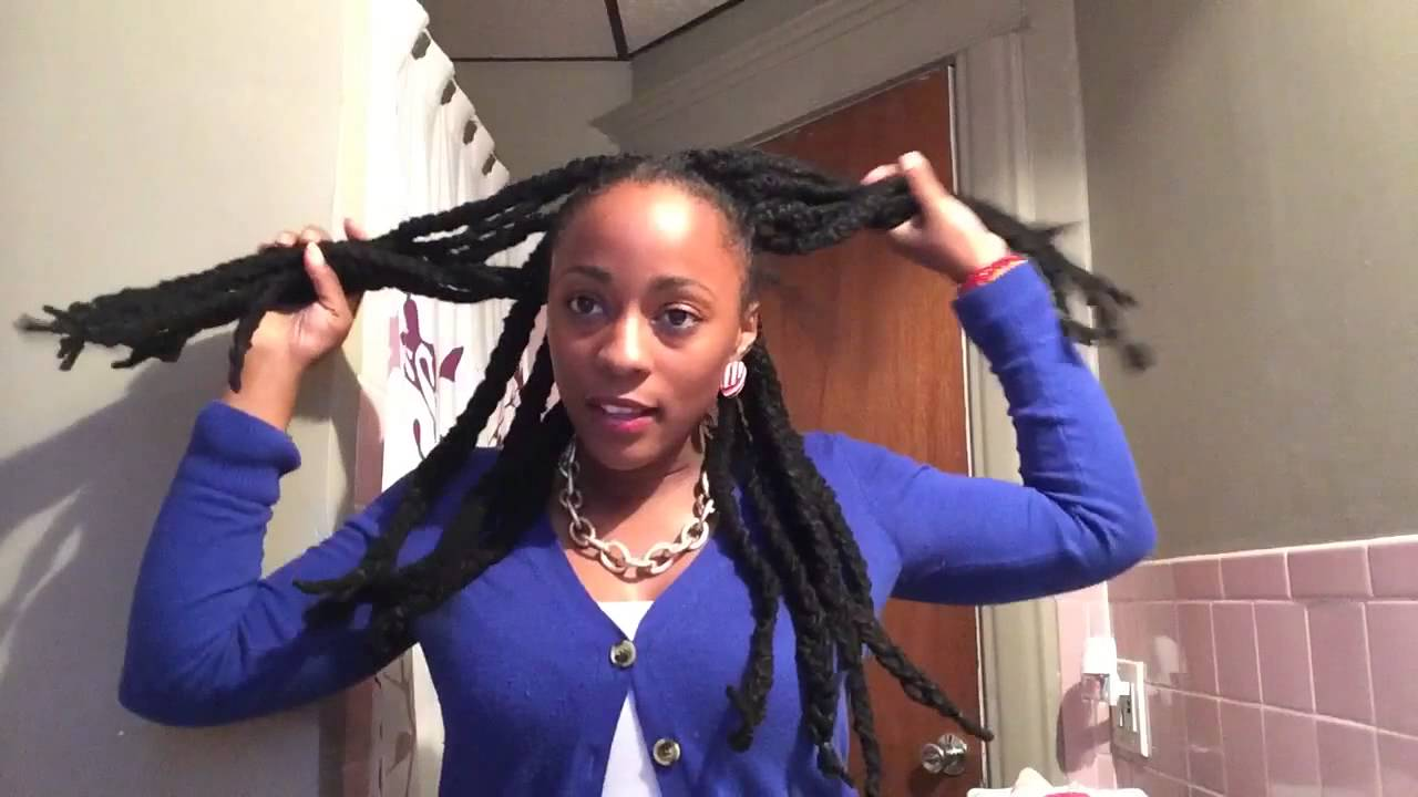 Easy dreadlock styles protective style youtube for Style at home