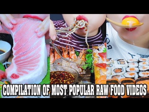 ASMR COMPILATION OF MOST POPULAR RAW FOOD VIDEOS ON MY CHANNEL | LINH-ASMR